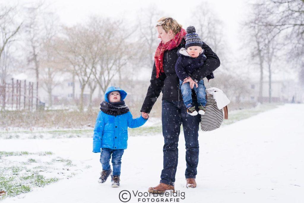 fotoshoot in de sneeuw amersfoort