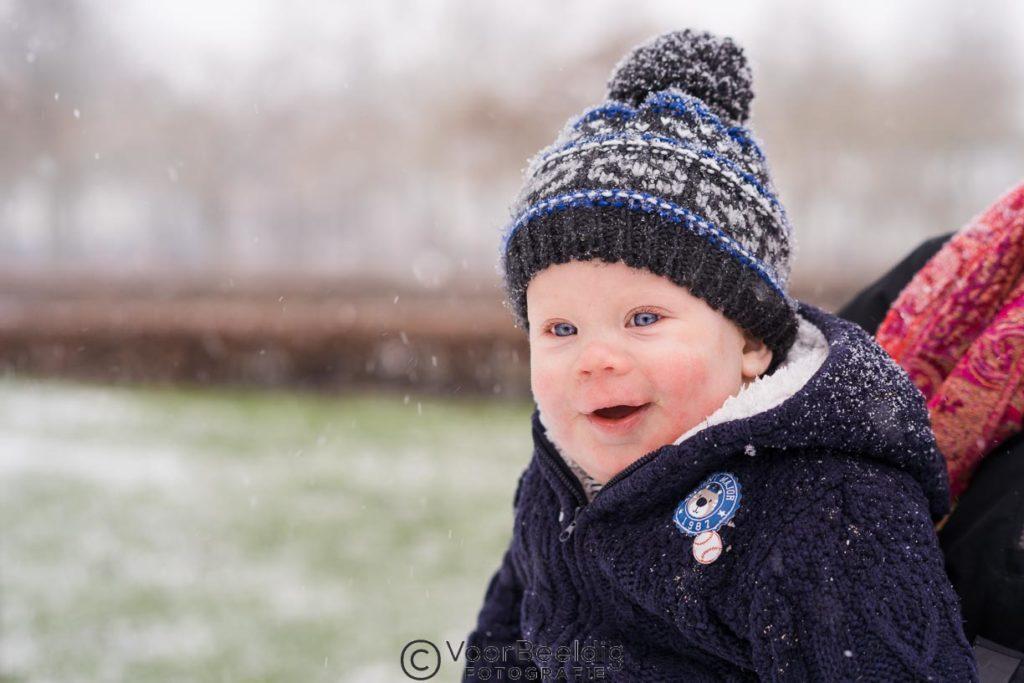 kinderportret sneeuw