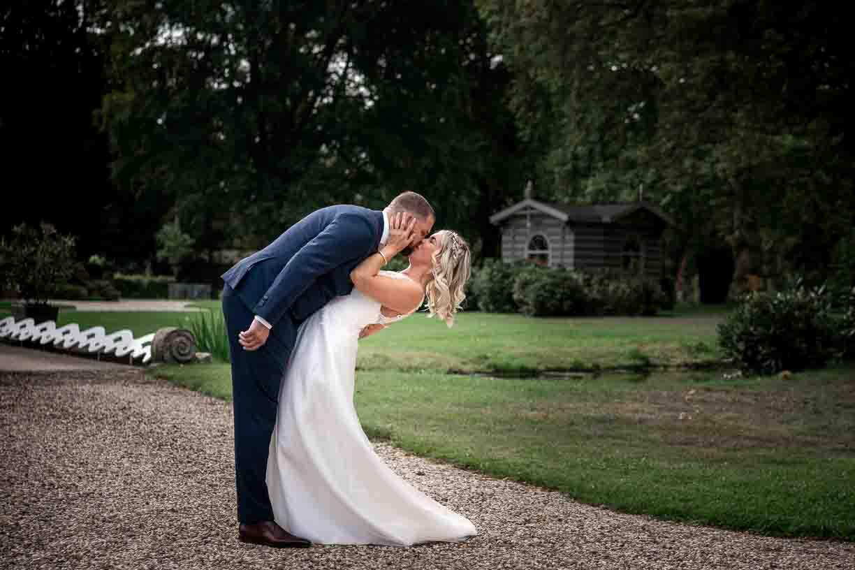 trouwfoto bruidspaar landgoed klarenbeek